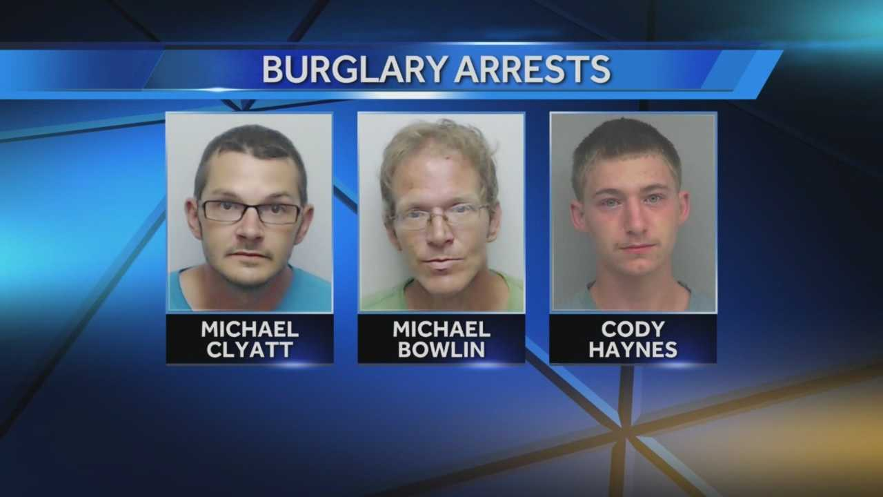 Three men face charges for home burglaries