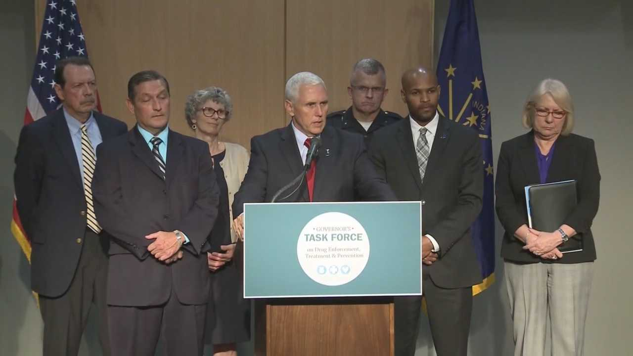 Gov. Mike Pence has assembled a task force, made up of health officials, law enforcement, church leaders and others, to evaluate resources throughout the state and find ways to improve.