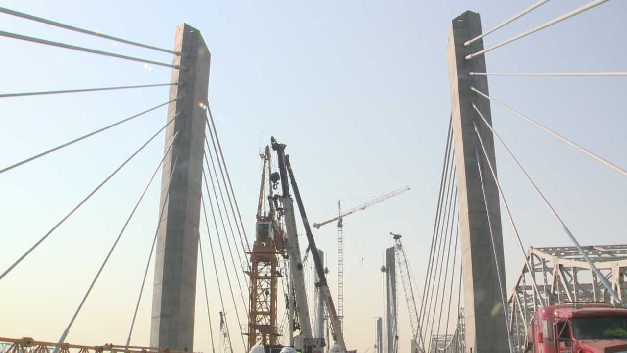 In about four months, cars will begin driving across the new Downtown Bridge.