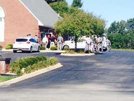 State Troopers arrive at funeral home in Vine Grove.