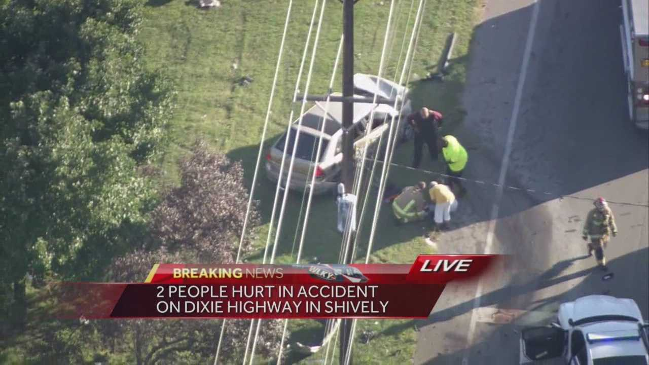 A portion of Dixie Highway has been shut down because of a two-vehicle accident.
