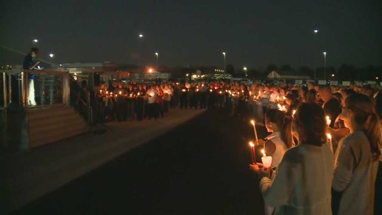 A vigil is held for fallen Kentucky State Trooper Joseph Cameron Ponder
