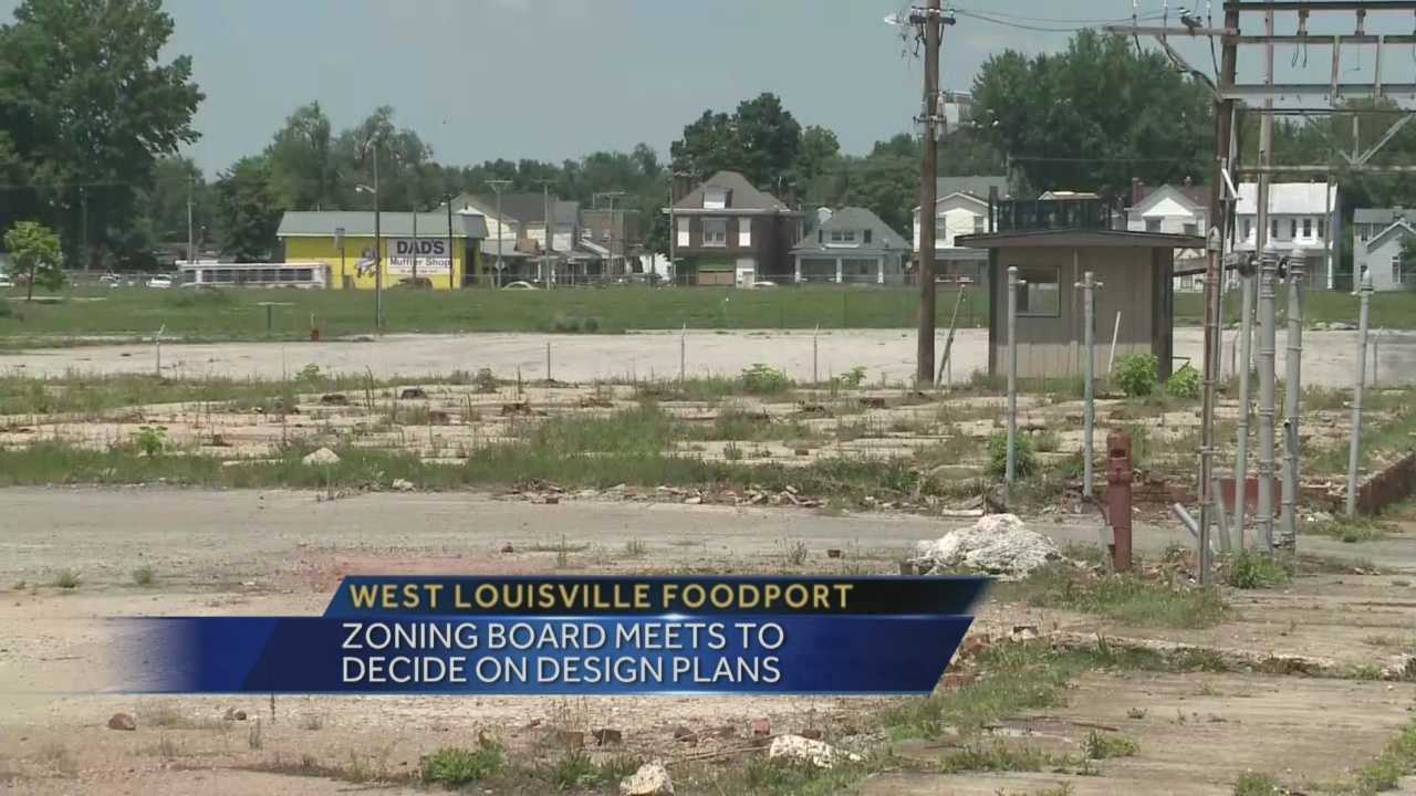 A zoning board is meeting to decide on design plans for the West Louisville foodport.