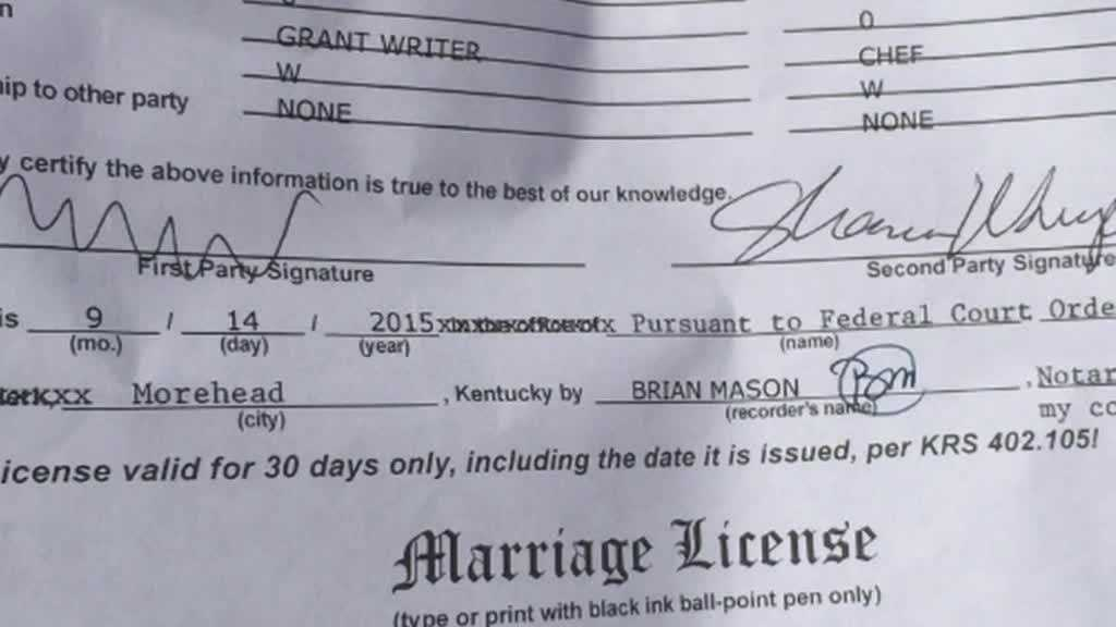 Kentucky governor signs off on single marriage license form