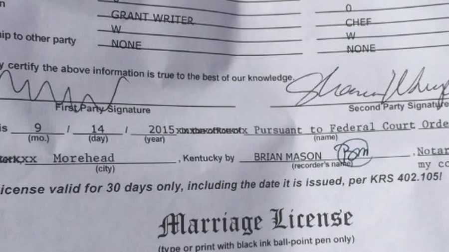 Copy Of Marriage License Request Form For A Confidential: Kentucky Governor Signs Off On Single Marriage License Form
