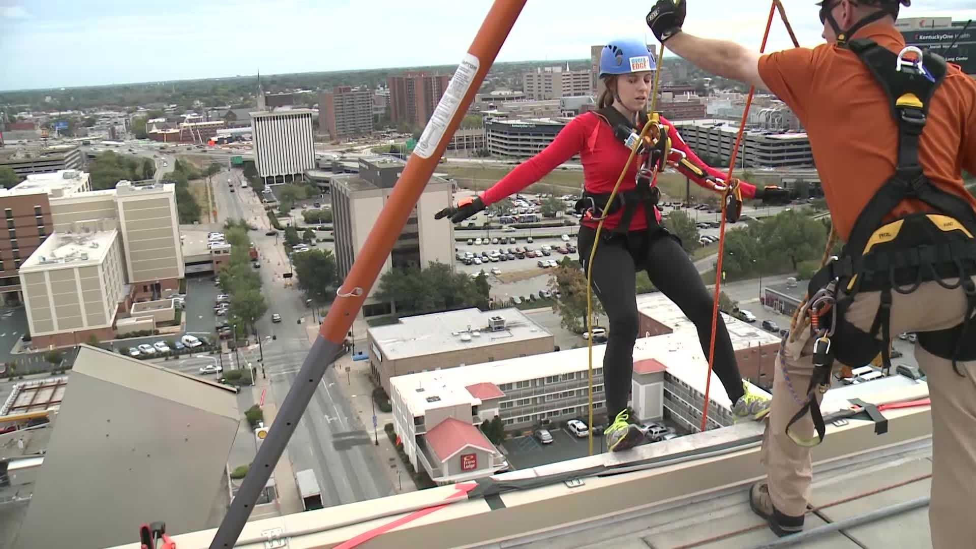 Over the Edge fundraiser held for boy scouts