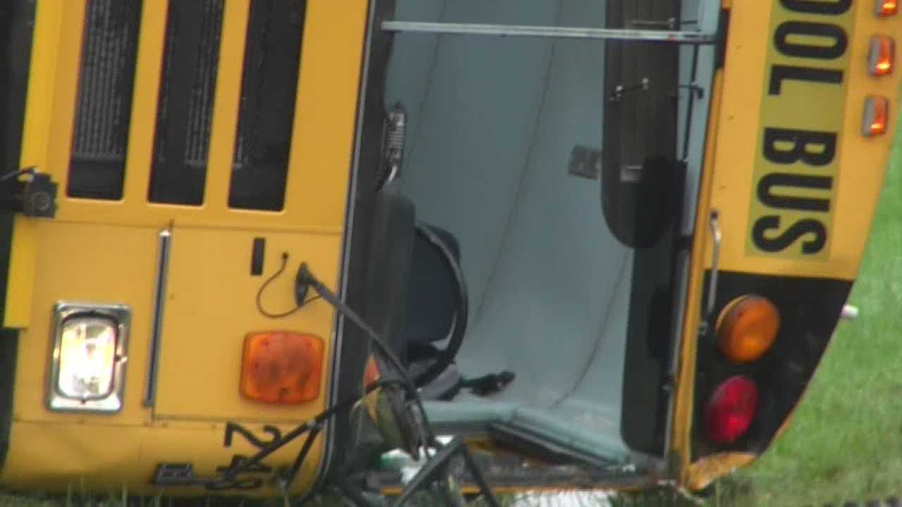 More than a dozen students transported after school bus accident