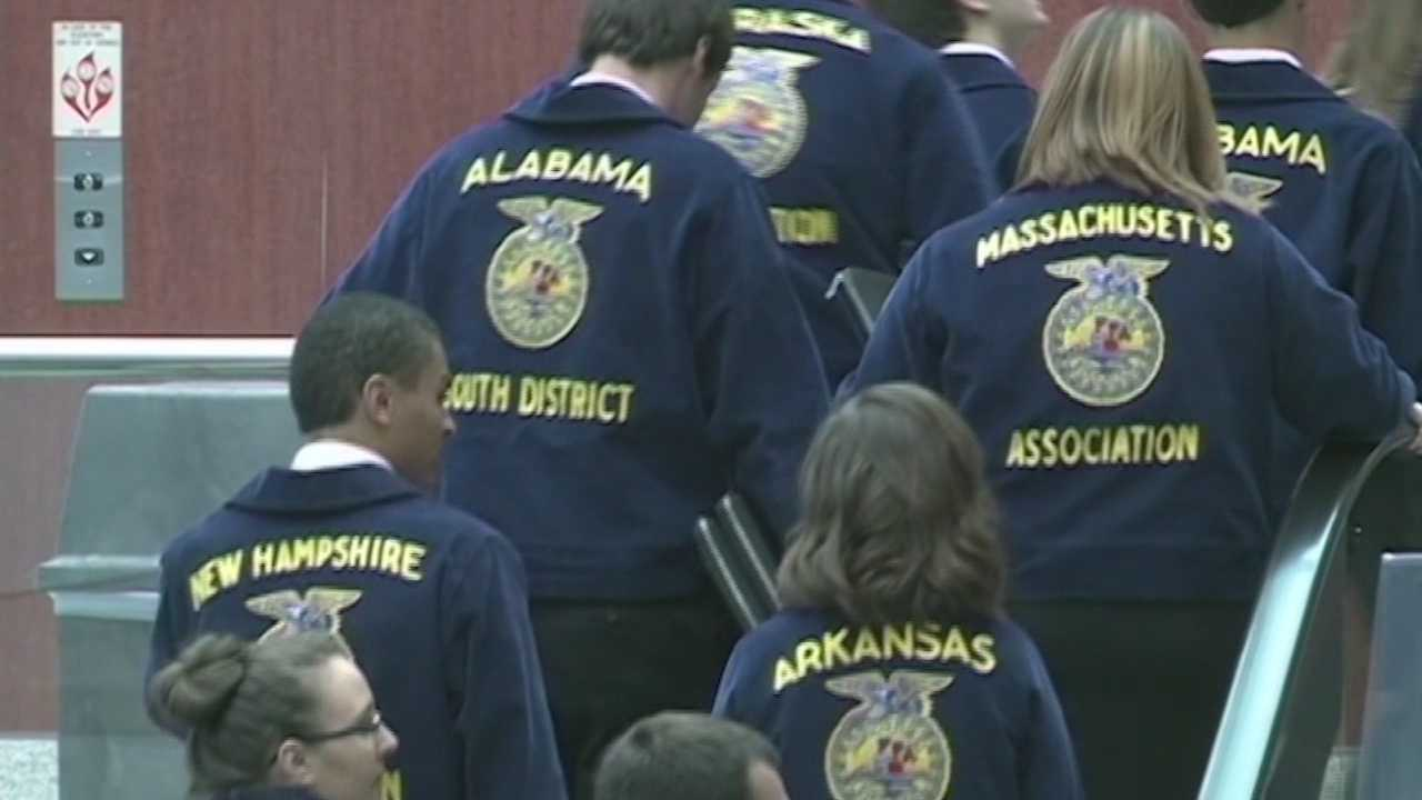 Louisville will get one last economic boost this year from the national FFA convention before losing the event to Indianapolis.