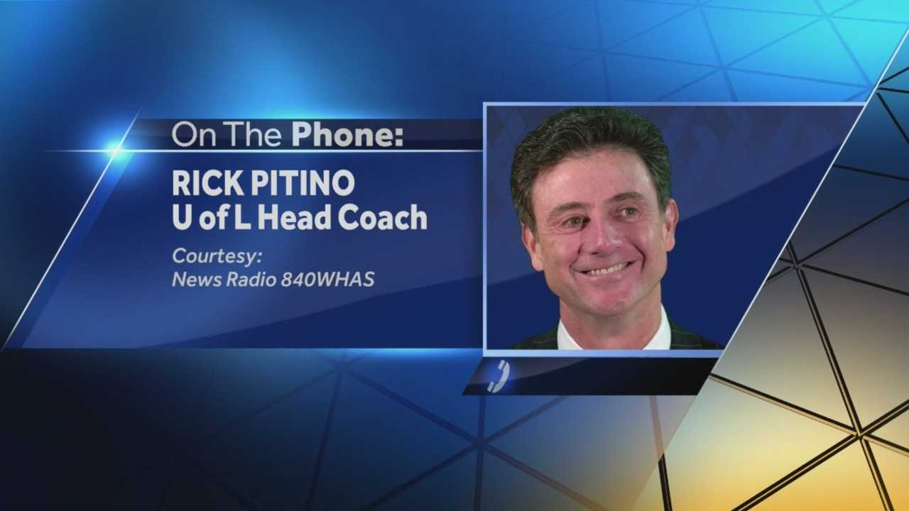 Head coach Rick Pitino is responding to allegations against UofL.