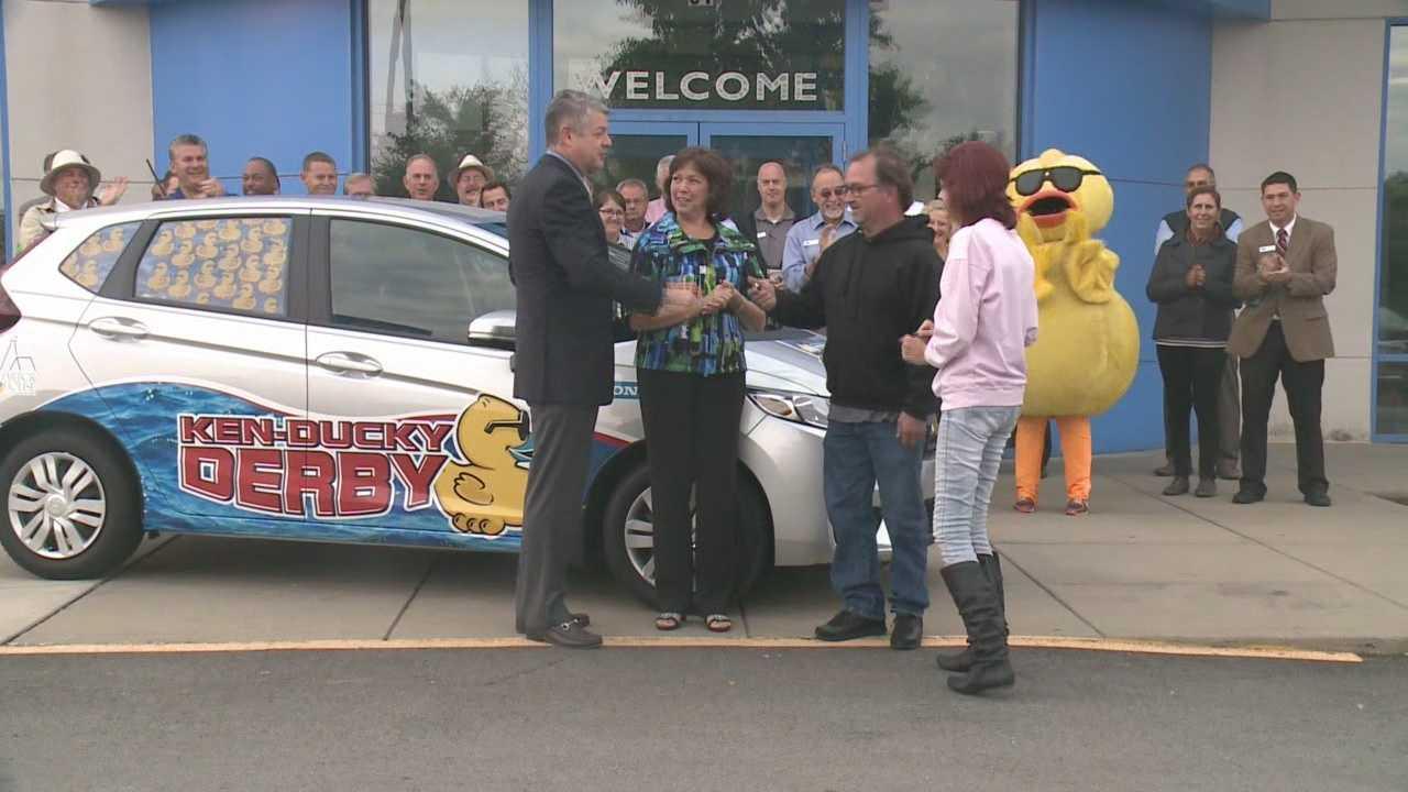 KenDucky Derby winners claim their Honda Fit