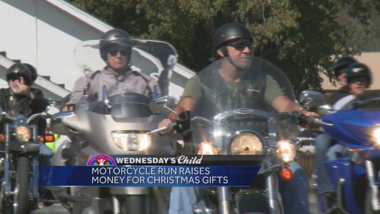 Wednesday's Child motorcycle run is raising money for Christmas gifts.