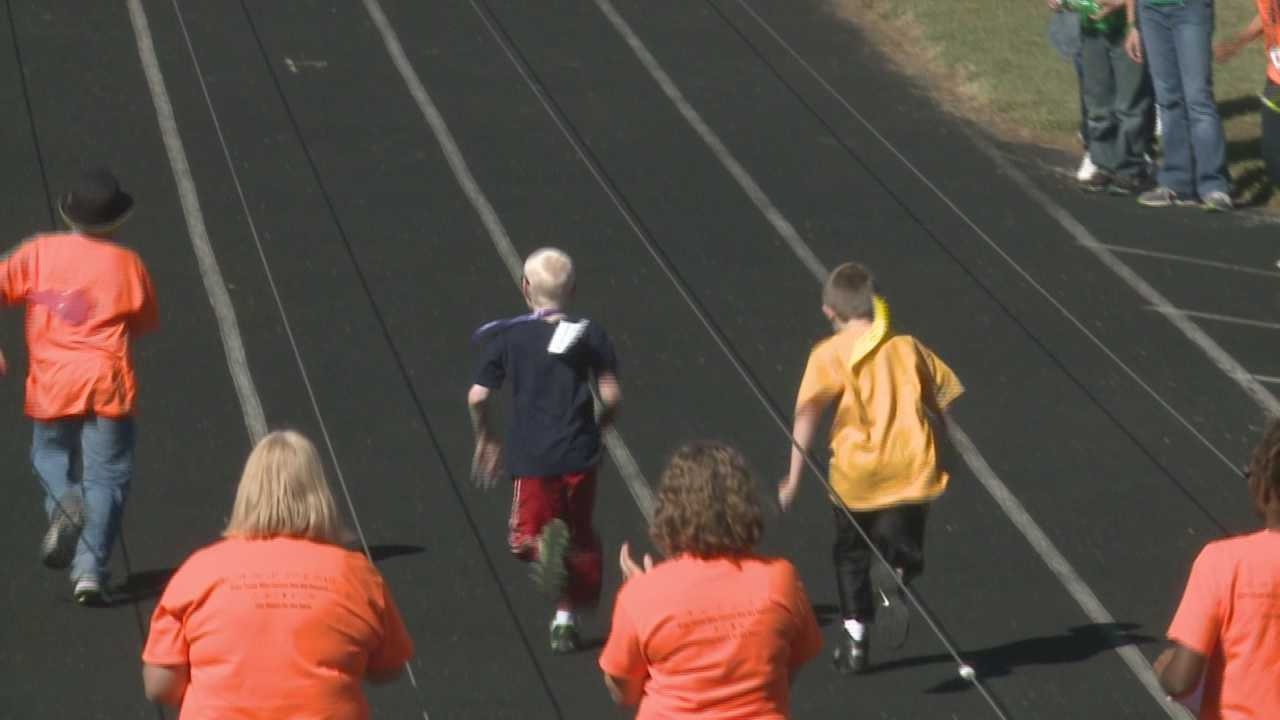 Students from Kentucky, Indiana, Ohio and Tennessee took part in the blind and visually impaired track and field games on Wednesday.