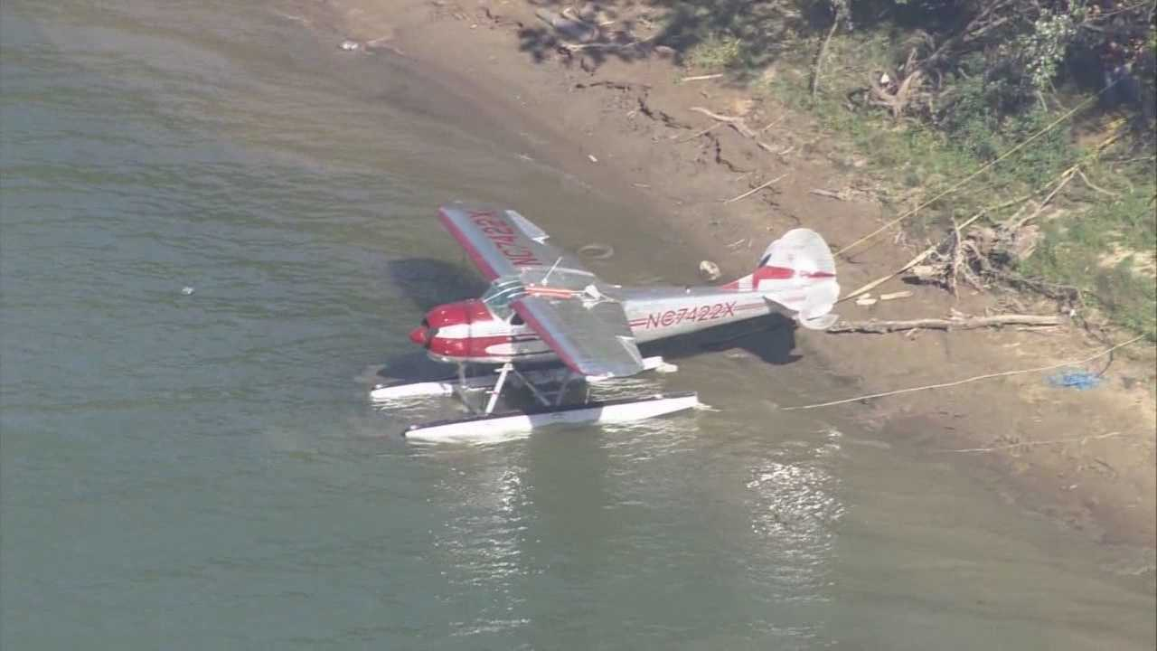 It was a traumatic experience for four passengers Wednesday when the plane they were in capsized on the Ohio river in Trimble County.