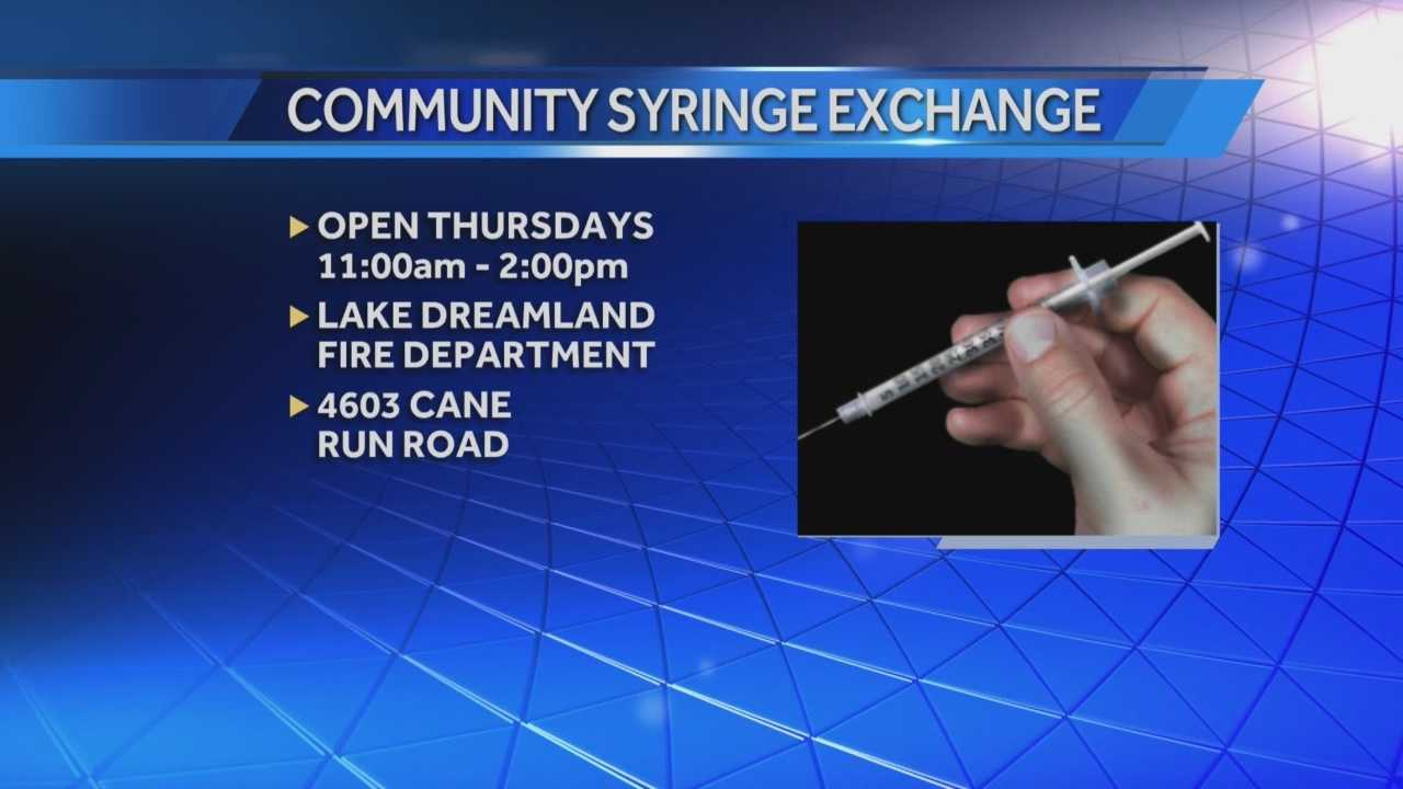 New needle exchange opens behind Lake Dreamland Fire Station