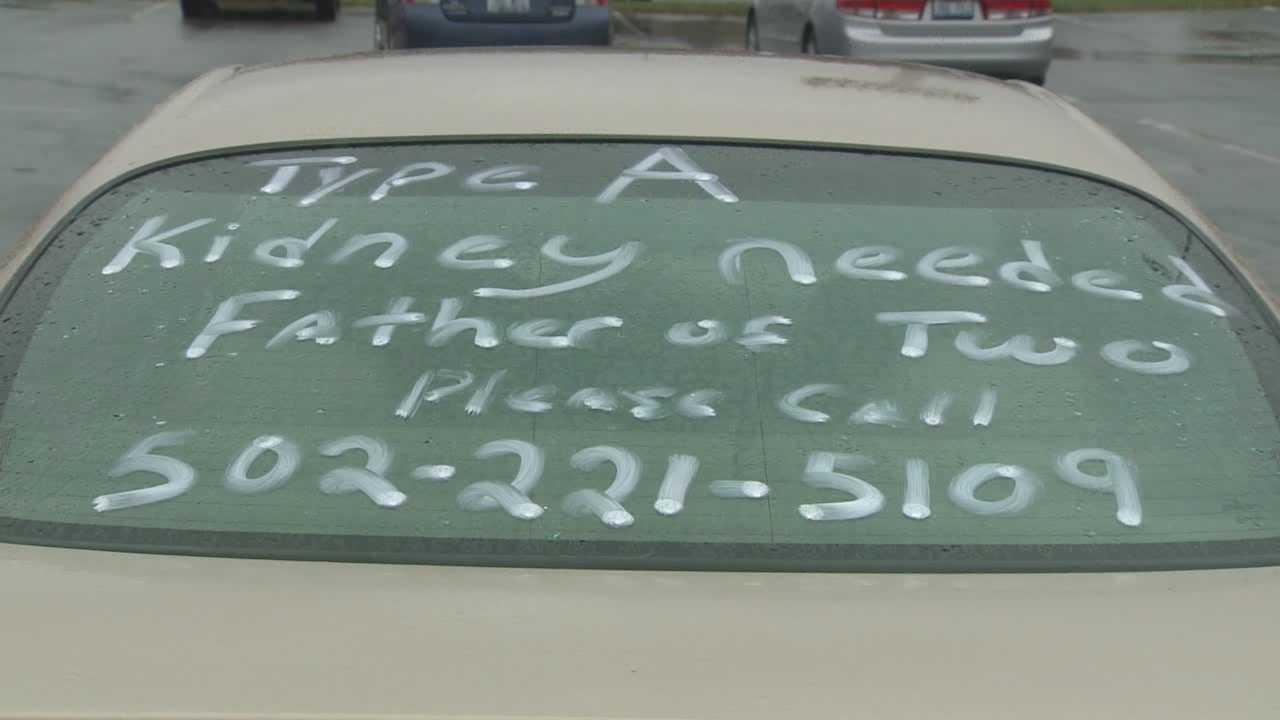Kentucky man advertises for kidney transplant on car