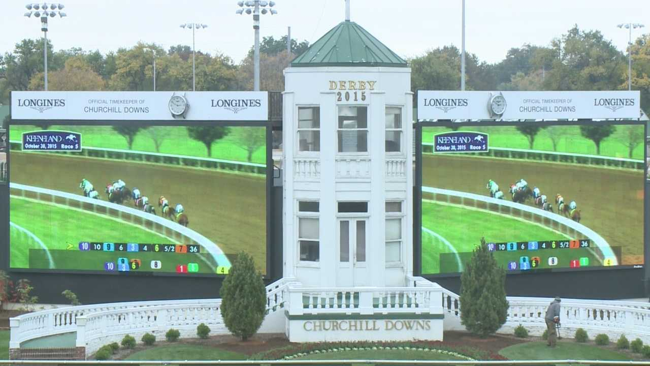 Some horse racing fans decided not to make the trip to Keeneland for Friday's Breeders' Cup races. Instead, they watched simulcast races at Churchill Downs.