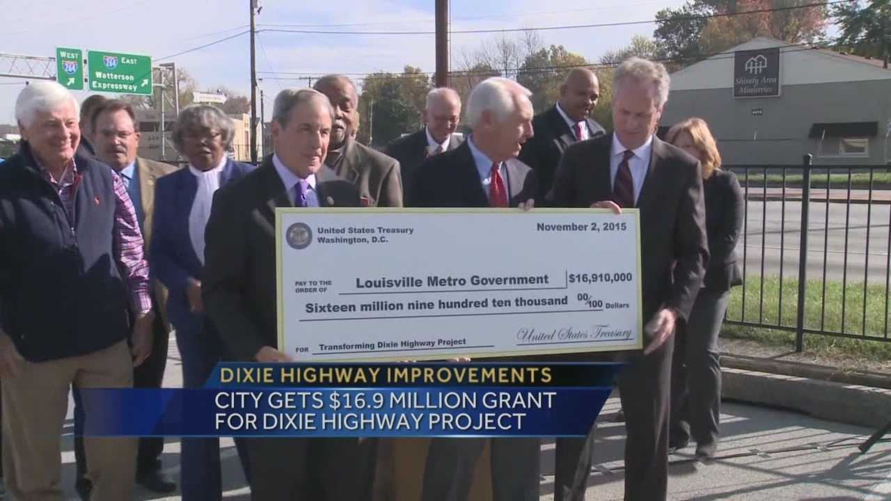 The city is getting a $16.9 million grant for a Dixie Highway project.