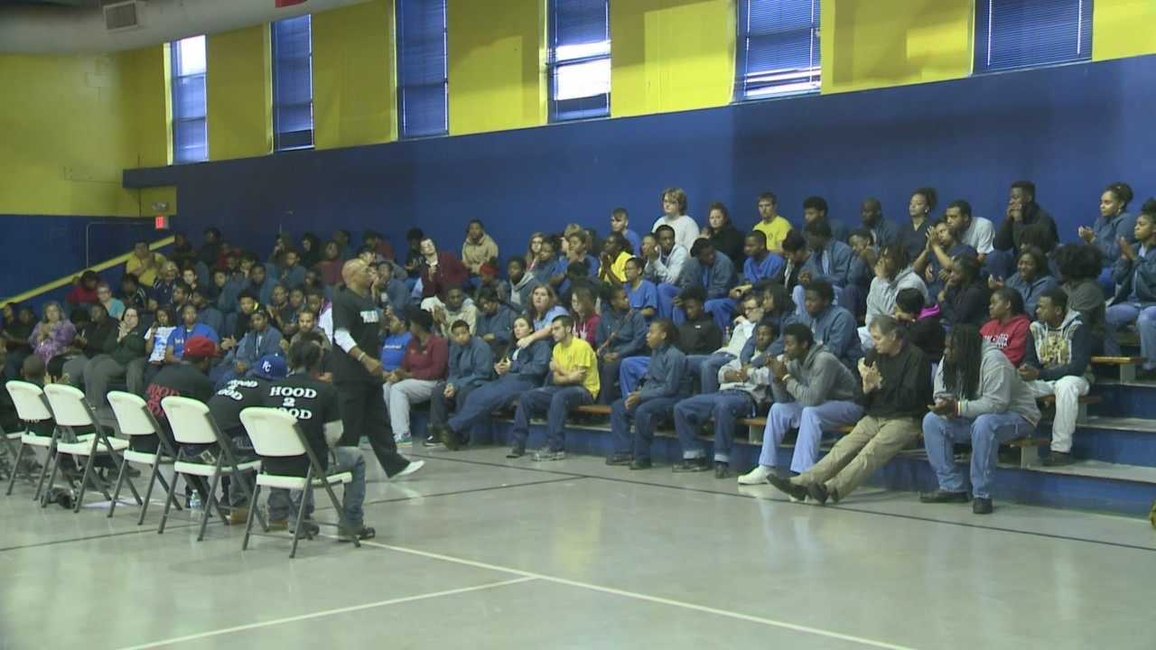 A local youth organization aimed at ending the violence in Louisville took their message on the road, and Tuesday they visited the Whiney Job Corps Center.