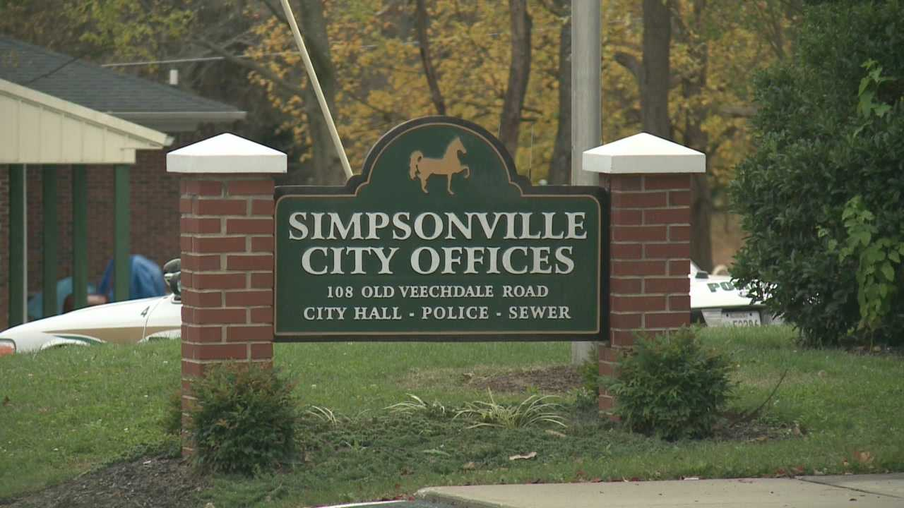 The search is on for the person or persons who burglarized the Simpsonville Police department.