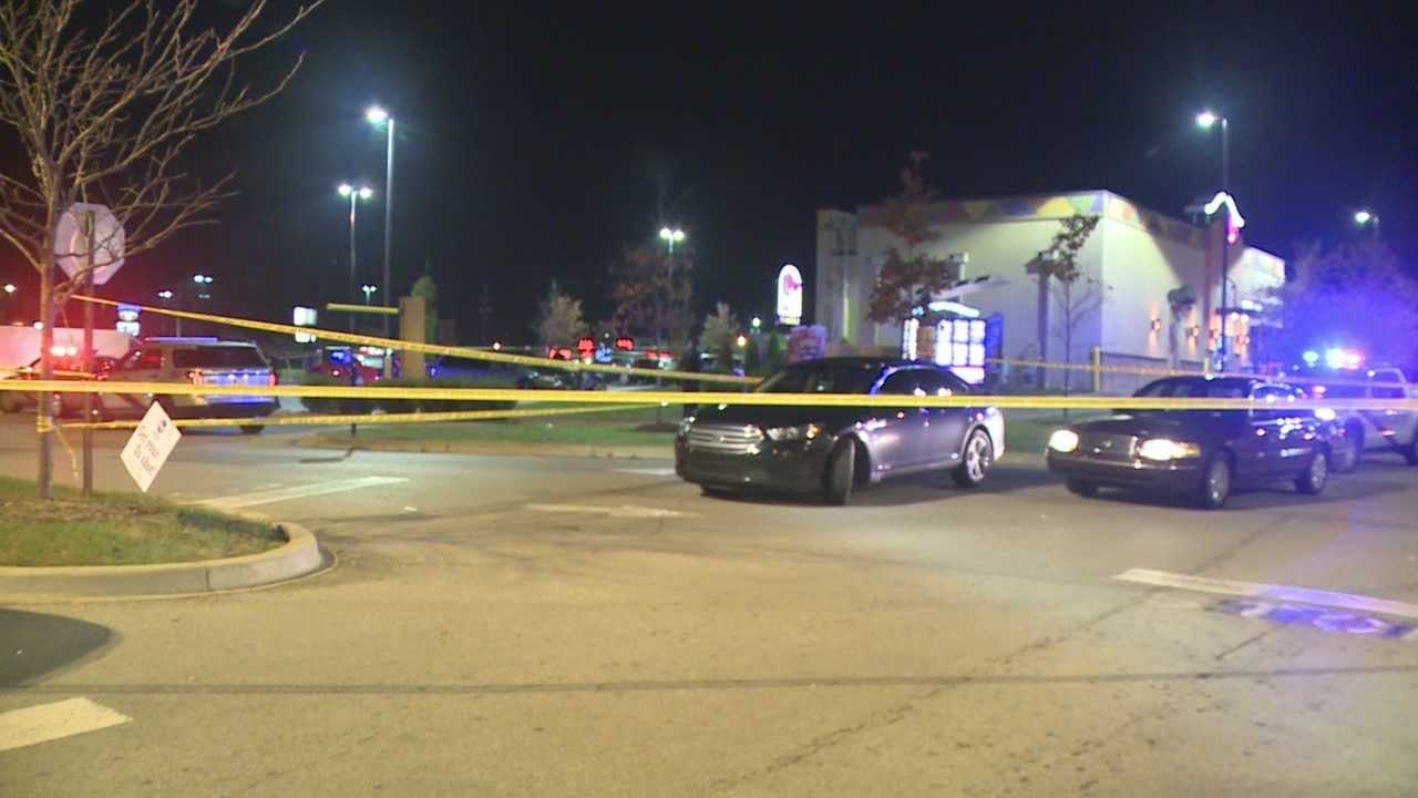 A man was shot and killed Tuesday night in a Louisville Taco Bell parking lot, police said.