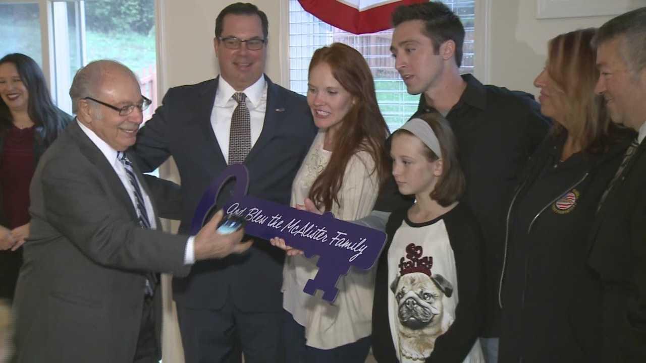 Purple Heart recipient receives new home