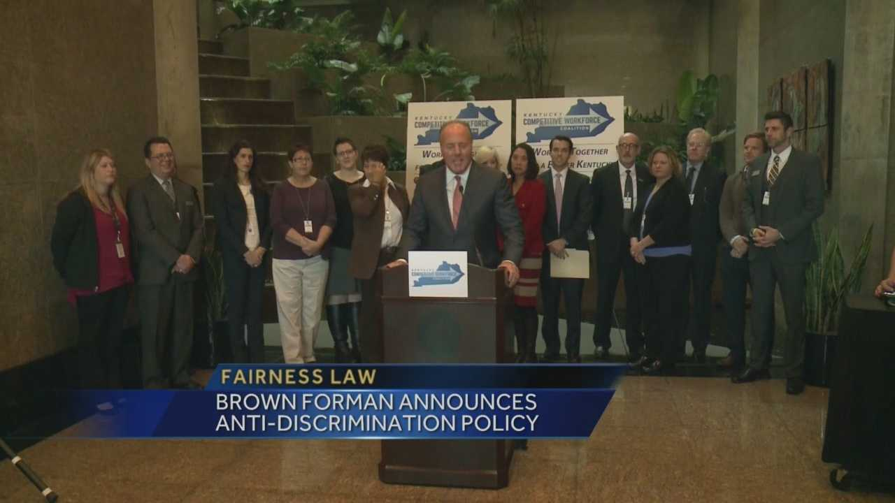 The announcement was made during the launch of a new coalition calling for the passage of a statewide fairness law.