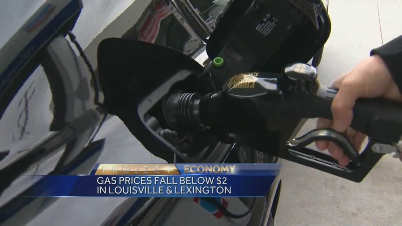 Gas prices have fallen below $2 in Louisville and Lexington.