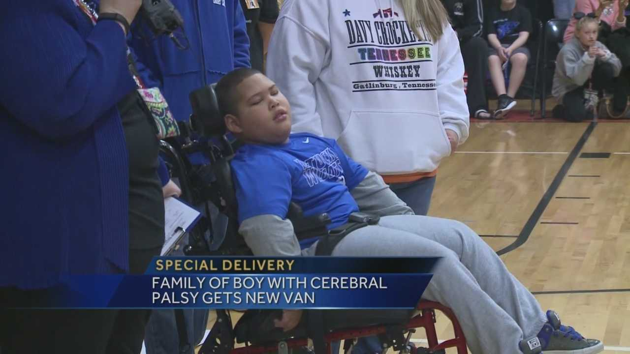 A boy with cerebral palsy received a life-changing surprise.