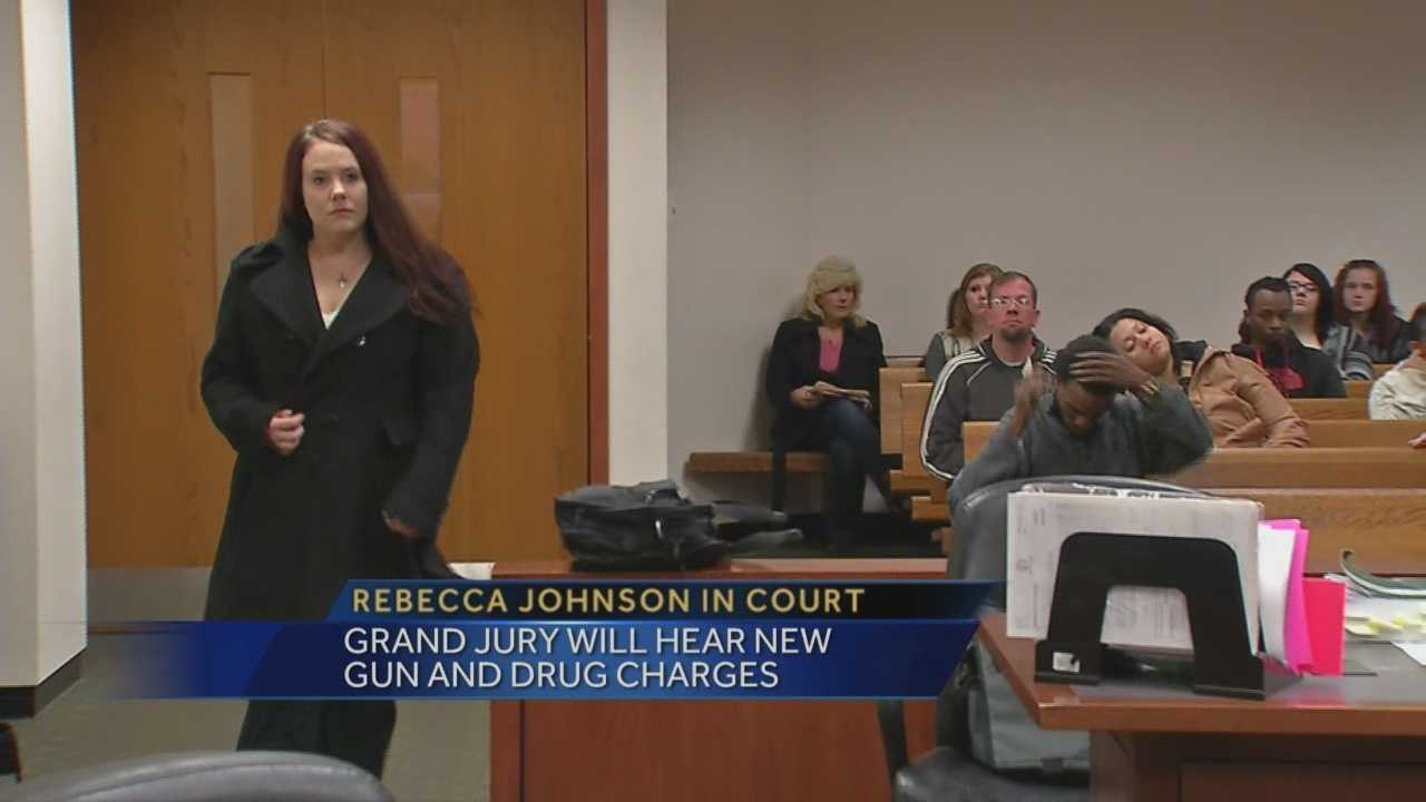 Rebecca Johnson is charged with possession of a handgun by a convicted felon and ome people aren't happy Johnson is out of jail.