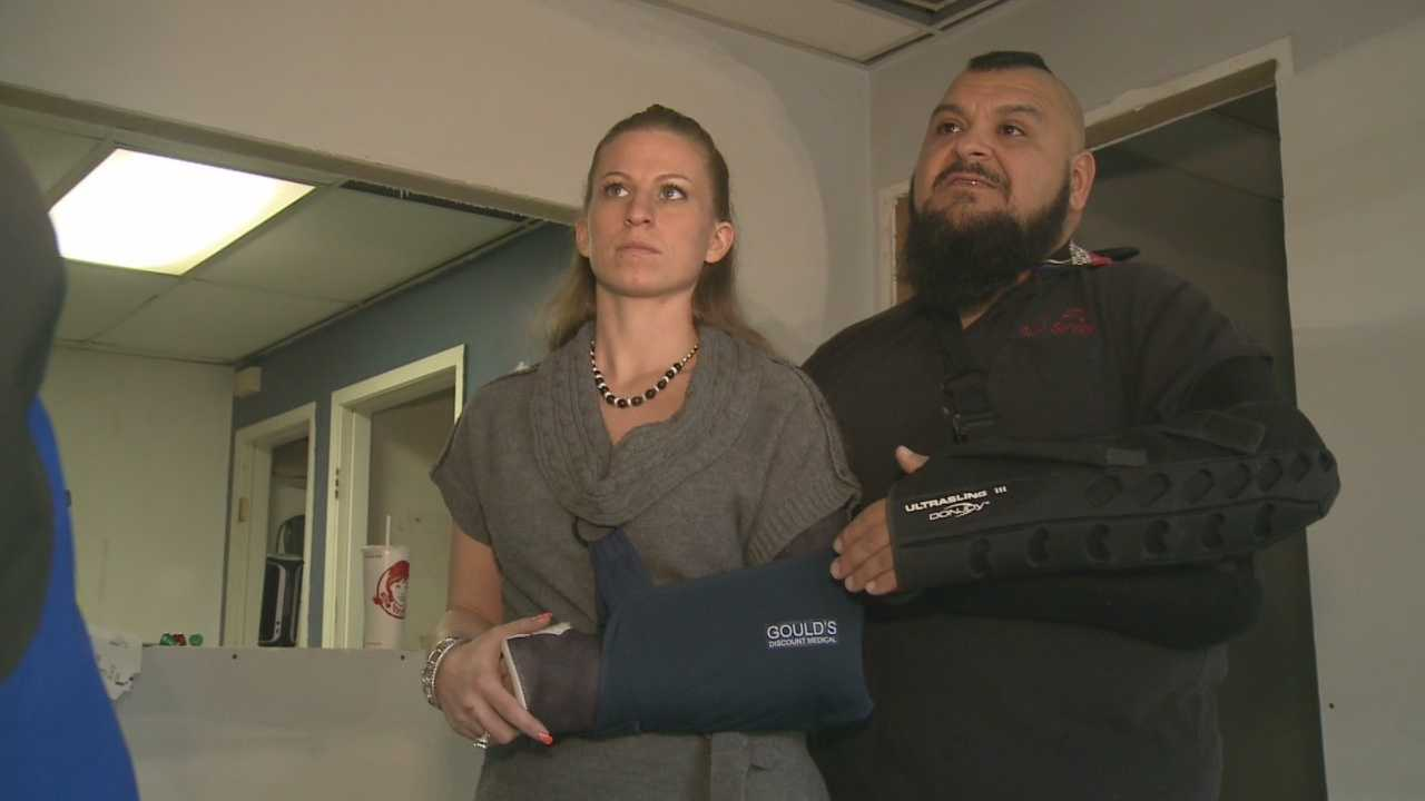Woman relives moment she was run over by SUV