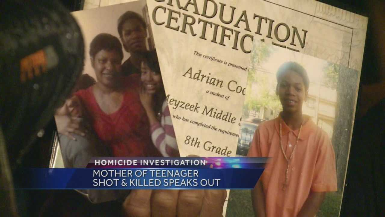 The mother of one of Louisville's latest murder victims says her 17-year-old son was her rock.
