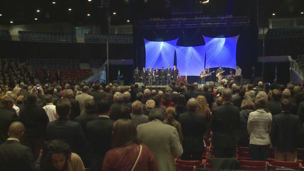 A worship service kicked off the day of inauguration activities for Gov. Matt Bevin.