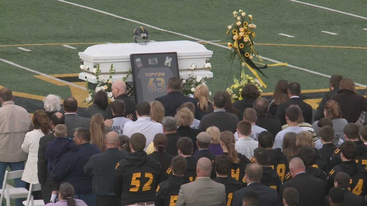 Funeral held at football field for fatally stabbed 6-year-old boy