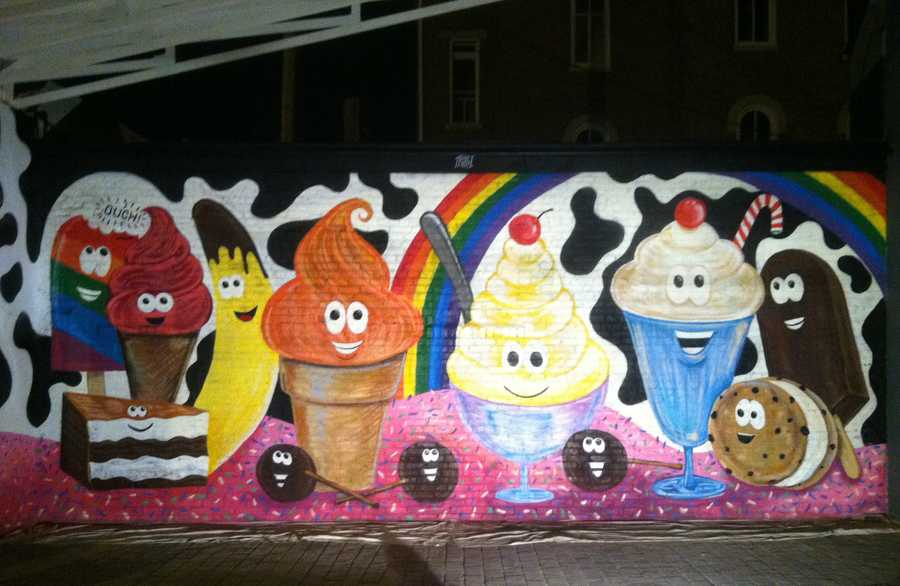 Wil's work at the Comfy Cow in New Albany