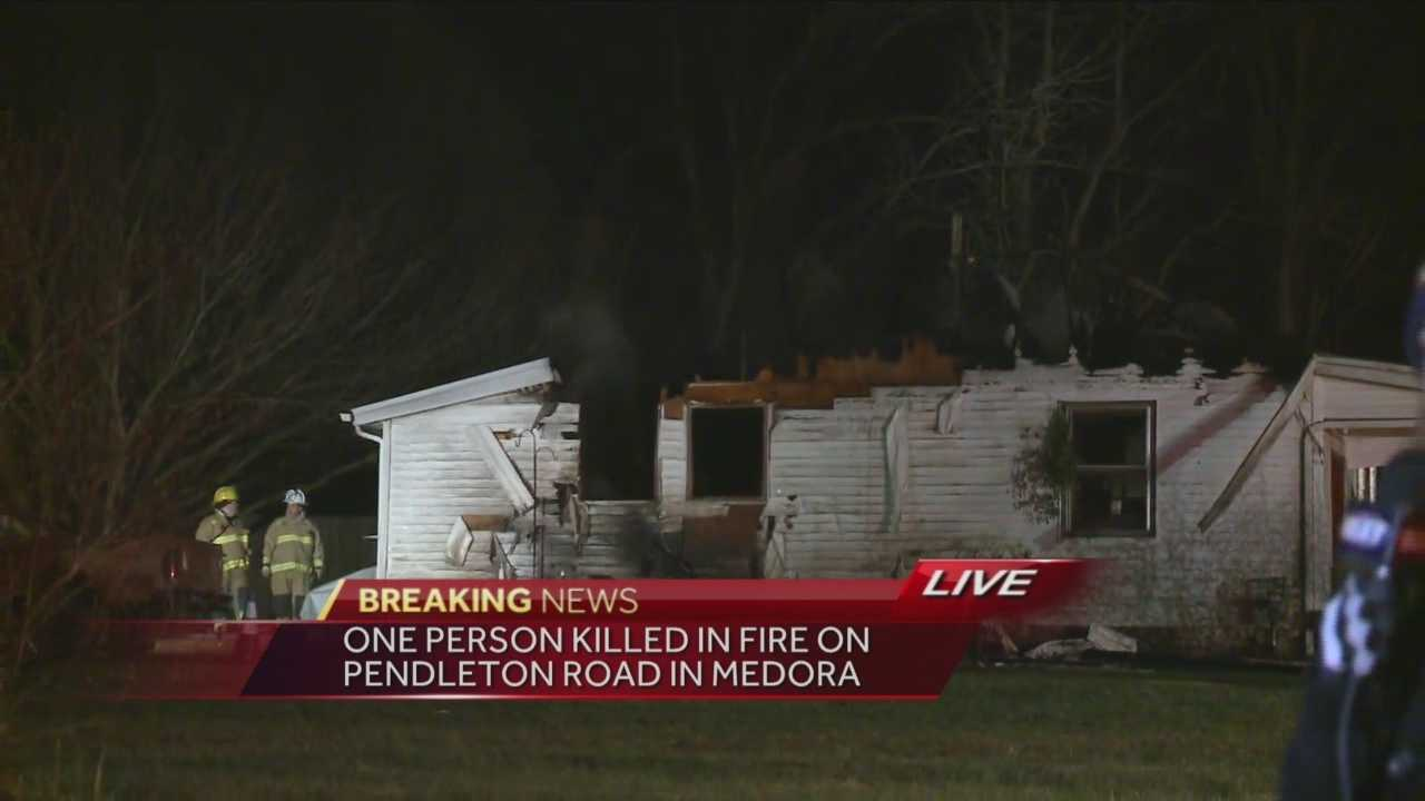 Fire crews responded to a house fire in the 5800 block of Pendleton Road around 3:19 a.m. Friday.