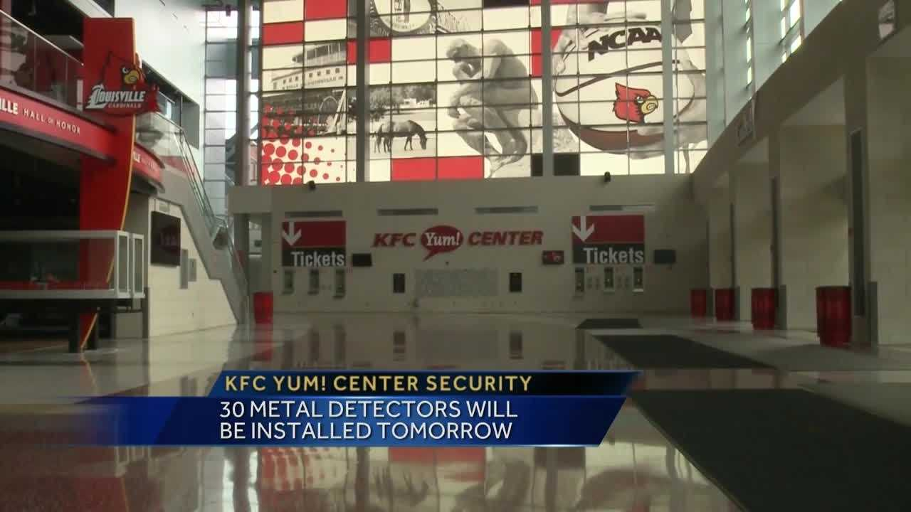 Security changes are coming to the KFC Yum Center.