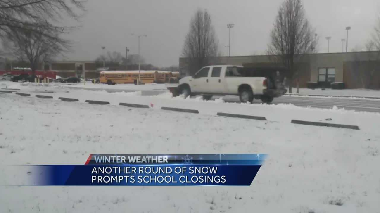 Oldham County schools were canceled Tuesday due to conditions.