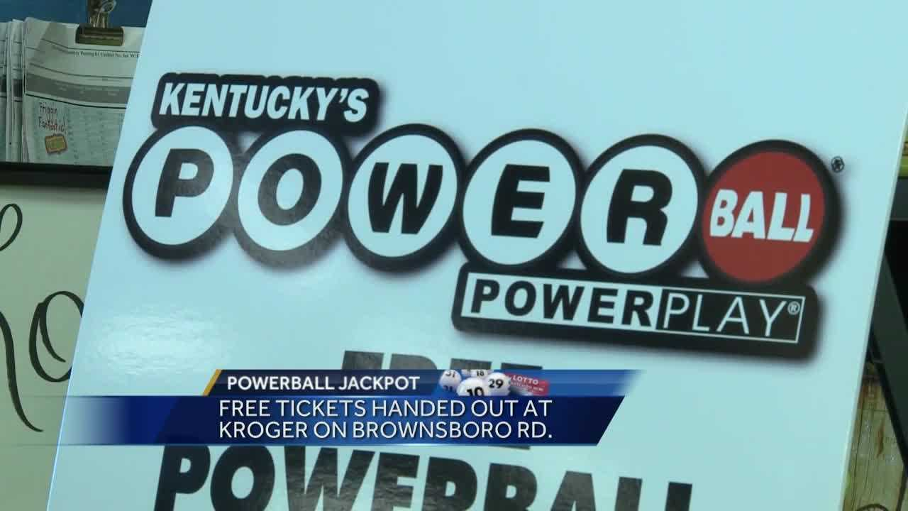 The Kentucky Lottery handed out 1,500 free Powerball tickets Wednesday.