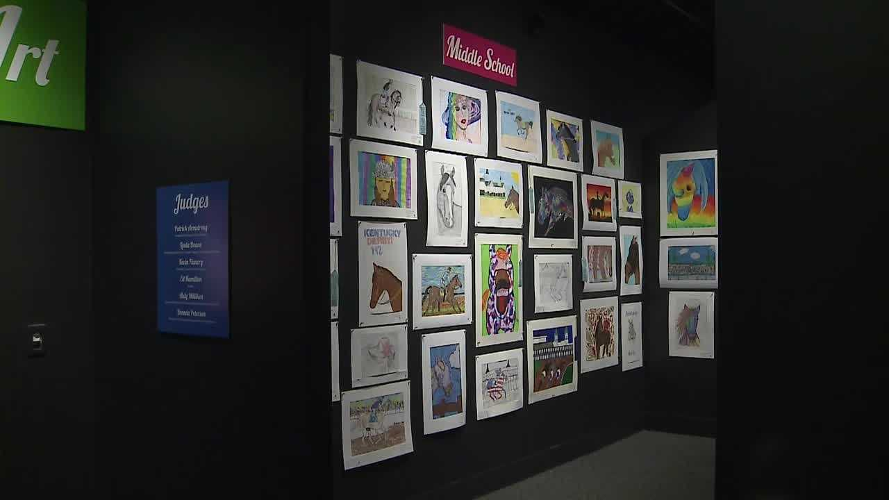 "The Kentucky Derby Museum is displaying students' art for the 30th year in a row during its ""Horsing Around with Art: A Student's View of the Sport of Kings"" art show."