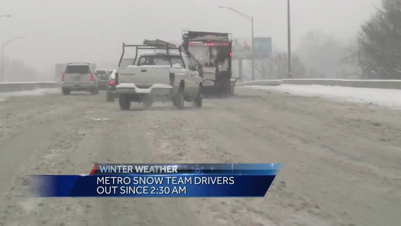 Metro officials give an update on the winter weather response efforts.