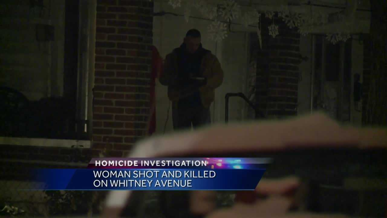 Police are investigating after a woman was shot and killed on Whitney Avenue.