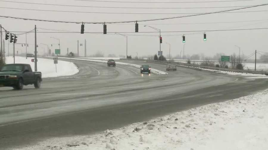 Bullitt County road, snow conditions