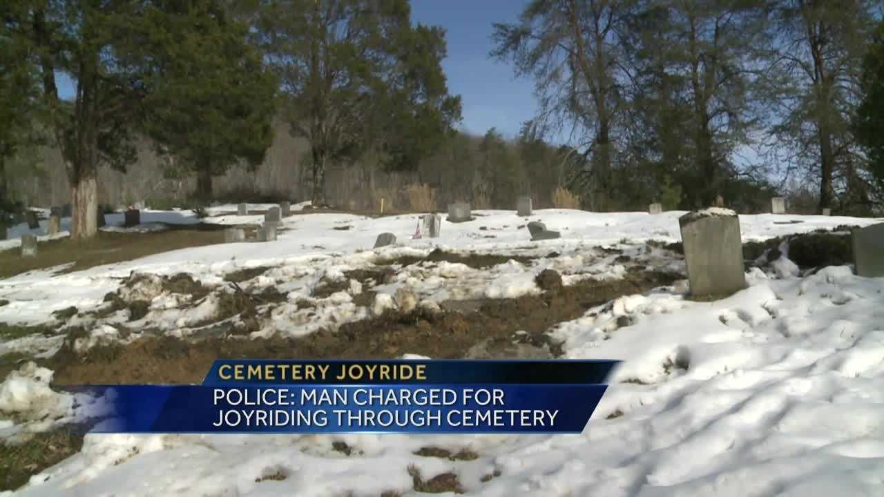 A man in Bell County faces charges after police say he took a joyride through a cemetery.