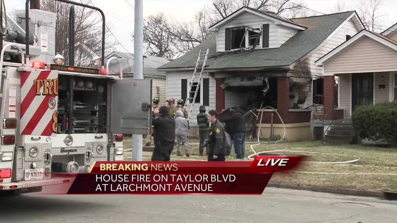 Crews were called to the scene of a house fire Wednesday in the 3100 block of Taylor Boulevard, near Larchmont Avenue.