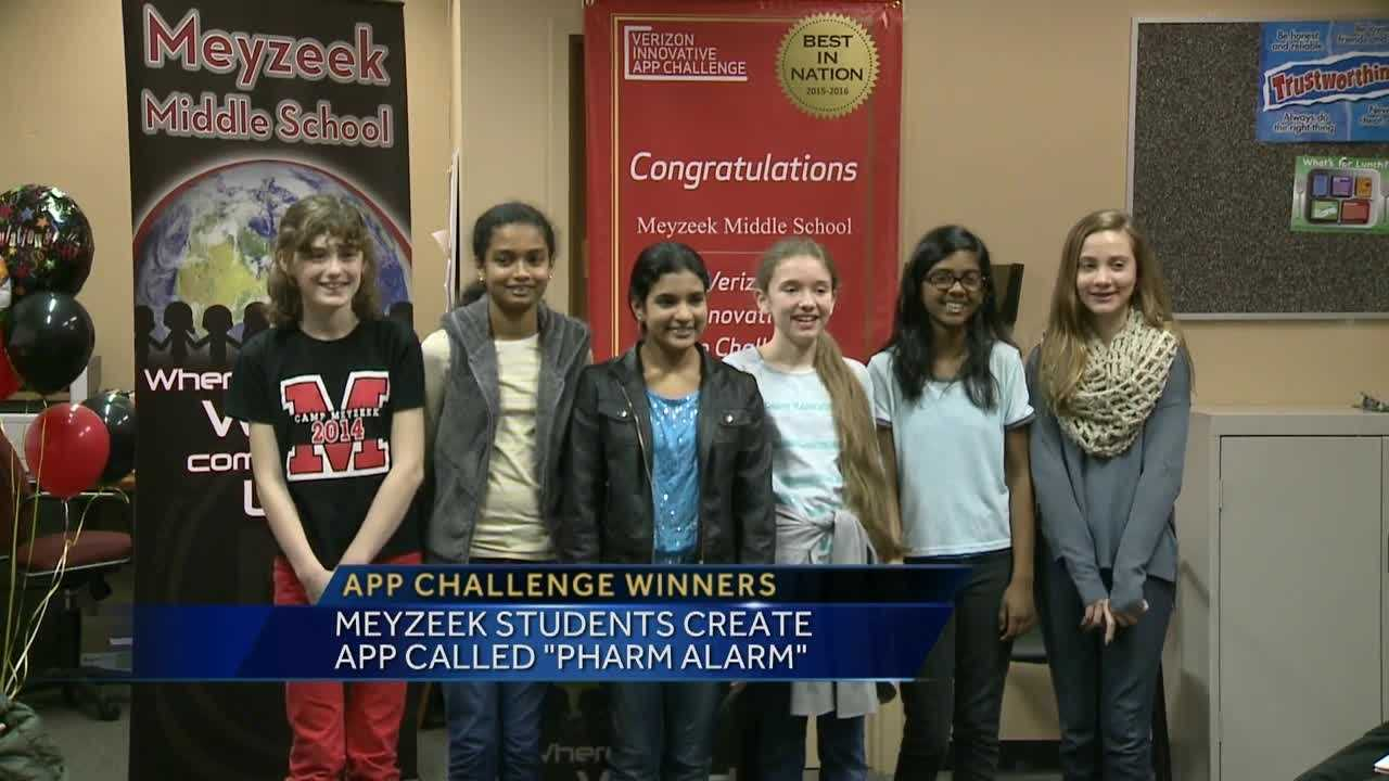 The group of students came up with an app concept as part of the Verizon Innovative App challenge.
