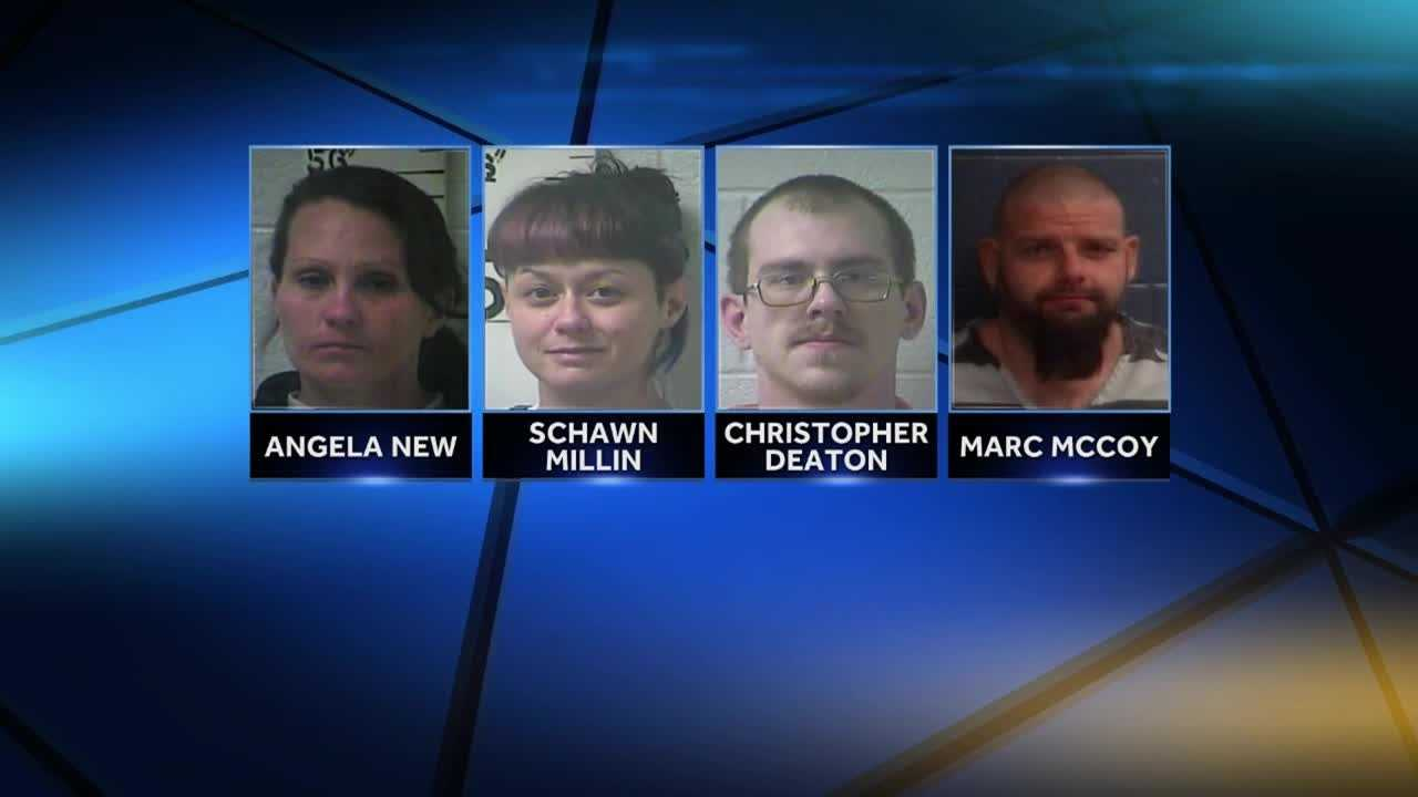 Four people are charged in connection to an abduction.
