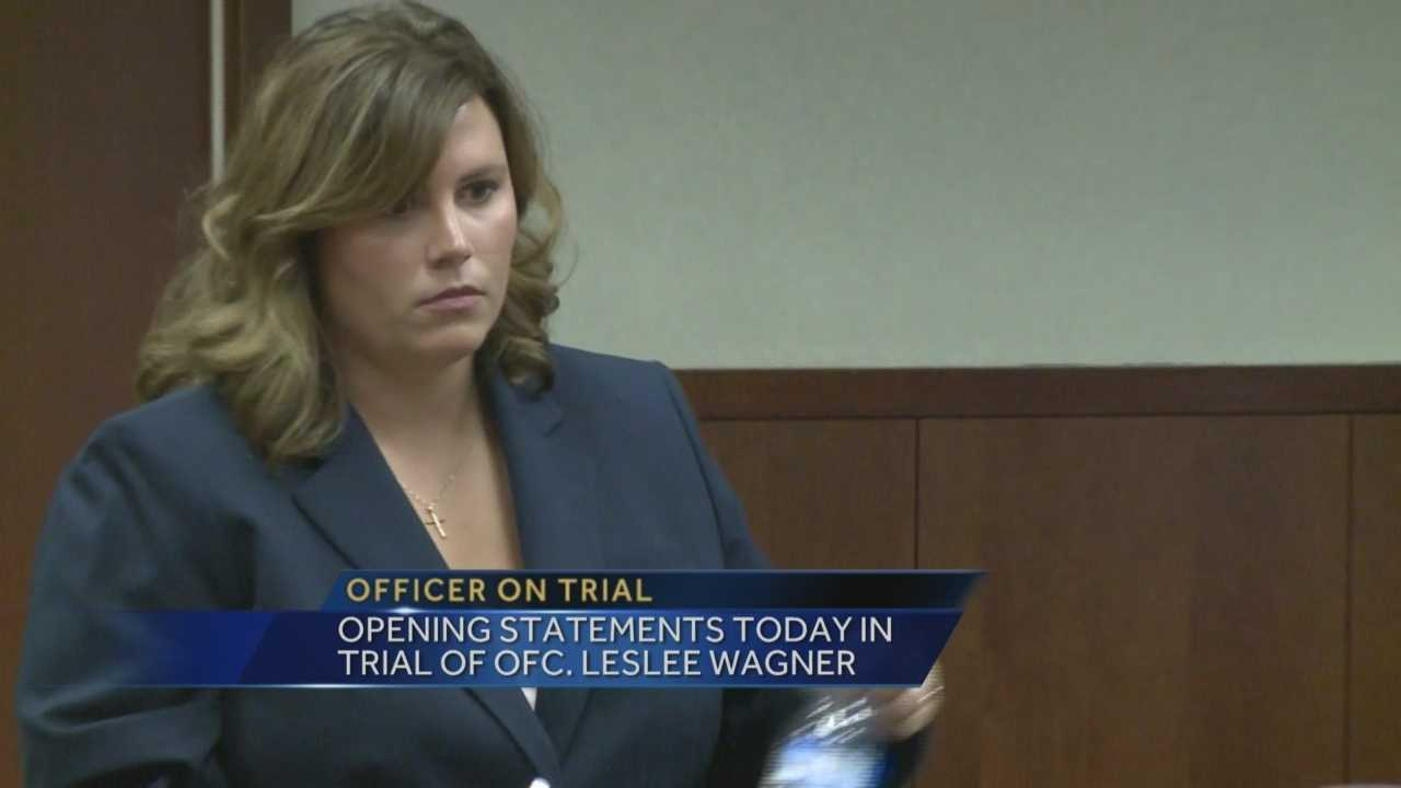 Opening statements are set to get underway in the trial of a Louisville police officer who is facing perjury charges.