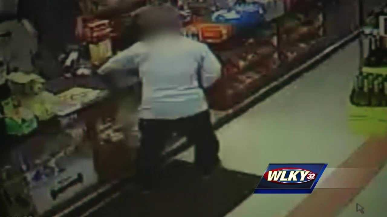 A man who was shot and robbed in a car stumbled into a Jeffersontown store looking for help early Sunday morning.