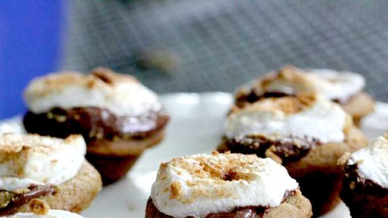 S Mores Cookie Cups Recipe With Nutella