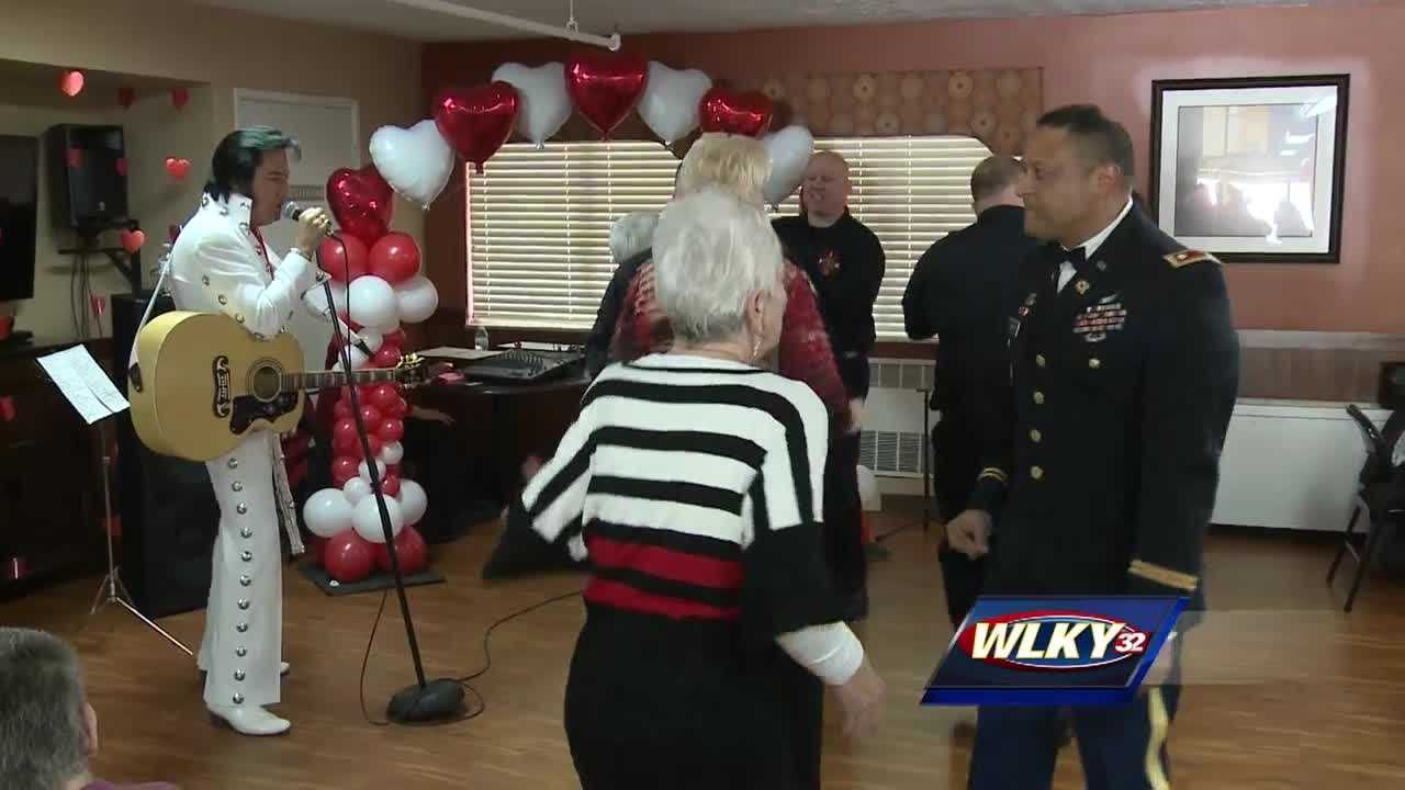 Love was in the air Thursday afternoon as dozens of seniors hit the dance floor at the Hillcrest Village retirement home in Jeffersonville.